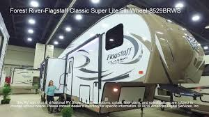 forest river 5th wheel floor plans forest river flagstaff classic super lite 5th wheel 8529brws youtube