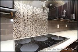 Mini Subway Tile Kitchen Backsplash by Mini Mosaic Tile Backdrop Matched With Grey Subway Tiles A Lot Of