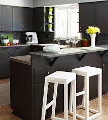 unique kitchen makeover featuring black cabinets
