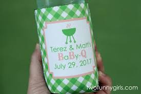 baby shower koozies bulk print qty 25 custom personalized koozies gingham