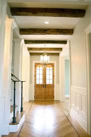 gray wood beams design ideas