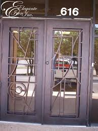 Metal Front Doors For Homes With Glass by Custom Wrought Iron Door Clear Glass Double Doors Pinterest