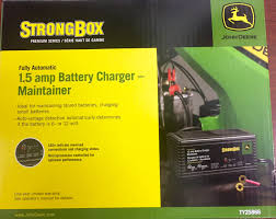 john deere fully automatic 1 5 amp battery charger maintainer