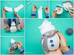 creative ideas diy easy no sew sock snowman sock snowman