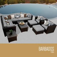 Real Wicker Patio Furniture - tk classics barbados 12 piece outdoor wicker patio furniture