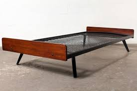 bedroom magnificent mid century teak daybed with enameled metal