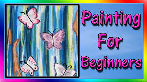 easy acrylic painting for beginners abstract painting youtube