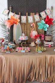 Luau Party Table Decorations Tropical Candy Skewers Luau Or Try Real Orange Wedges Grapes