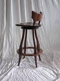 bar stool custom made black walnut bar stool with swivel and