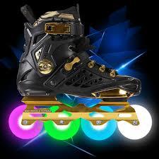 roller skates with flashing lights flashing led light inline sliding flash roller skate wheels 6 colors