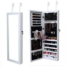 Wall Mount Jewelry Cabinet Wooden Over The Door Wall Mount Jewelry Armoire Cabinet With