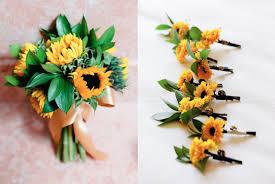 Sunflower Wedding Bouquet Elegant Sunflower Wedding Bouquet Elizabeth Anne Designs The