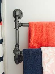 pipe towel rack diy for small bathroom the style sisters