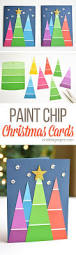 paint chip christmas cards paint chips christmas cards and card