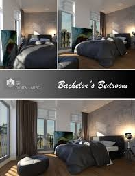 bachelor u0027s bedroom 3d models and 3d software by daz 3d