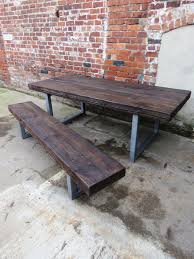 12 Seater Dining Tables Reclaimed Industrial Chic 10 12 Seater Sleeper Top Dining Table
