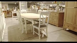 Extending Table And Chairs Vida Chalk Extending Table 6 Chairs Youtube