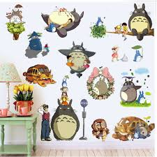 kids room 3d totoro wall stickers removble baby bedroom wall