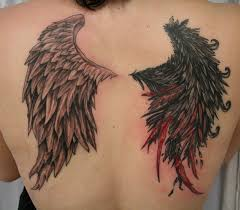 angel devil bloody wing tat by 2face tattoo on deviantart