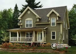 farmhouse wrap around porch house plan w2590 detail from drummondhouseplans