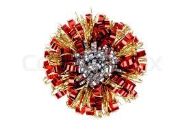 christmas gift bow christmas gift bow isolated on white background stock photo