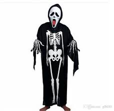 Scream Halloween Costume Kids Skull Skeleton Ghost Clothes Halloween Costume Masquerade Suit