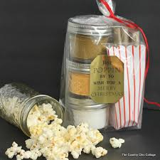 food gift ideas gourmet popcorn gift in a jar the country chic cottage