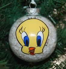 tweety bird tree ornament painted by lihl
