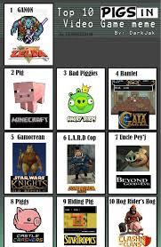 Meme Video Games - top ten pigs in video games meme by cerberus144 on deviantart