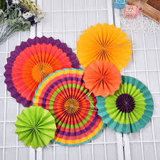 paper fan backdrop creative colorful handcraft paper fan honeycomb fan umbrella