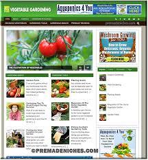 vegetable gardening niche plr blog