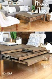 Dyi Coffee Table Diy Coffee Table With Pullouts Home Made By Carmona