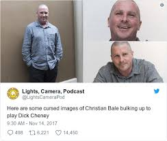 Christian Bale Meme - christian bale s barely believable transformation into dick cheney