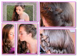 easy side swept hairdo for graduation wedding or other formal