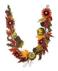 northlight pumpkin and sunflower autumn harvest artificial