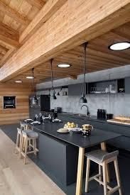 faire une cuisine ouverte la cuisine ouverte ose le noir pour se faire déco cuisine ouverte