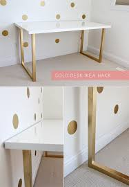 Ikea Office Desks 15 Super Chic Ikea Hacks White Table Top White Desks And Ikea Hack