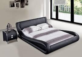 Black Leather Platform Bed Black Leather Platform Bed