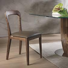 sedie pelle sedia in legno massello e seduta in pelle gaya arredaclick