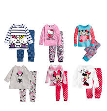 2pcs cotton baby t shirt top trousers minnie pajamas
