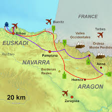 Pyrenees Mountains Map Western Pyrenees Tour Circular