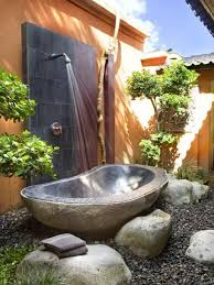 awesome bathroom ideas awesome white outdoor bathroom ideas