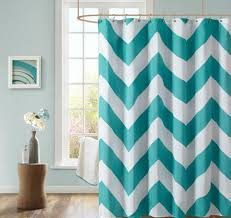 new teal white chevron microfiber shower curtain 72 x72 polyester