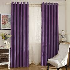 Purple Colour In Bedroom - modern purple color solid chenille bedroom curtains