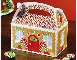 12 gingerbread house card christmas treat or party food boxes