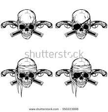 tattoos for pirate crossed pistol tattoo www 6tattoos com