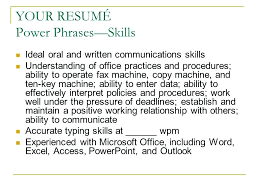 written communication skills resume communication skills resume