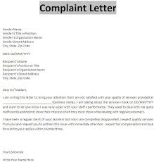 ideas collection example of complaint letter to supplier about