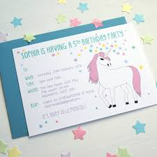 personalised halloween party invitations unicorn personalised birthday party invitations by superfumi
