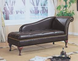 Storage Chaise Lounge Classic Black Wooden Leg Chaise Lounge Chair With Tufted Leather